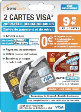 Cartes prepayees avec coupons